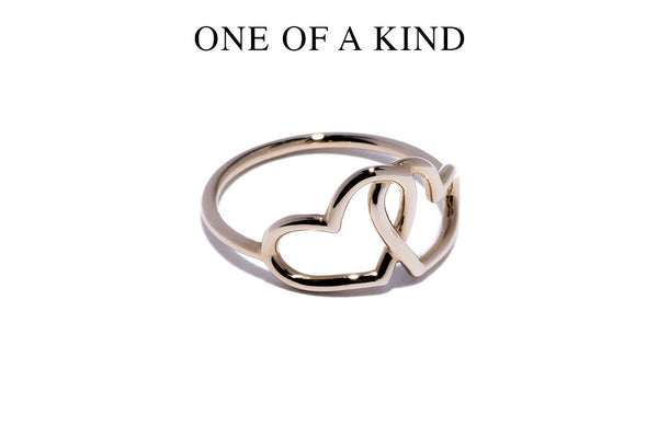 Intertwined Heart Ring