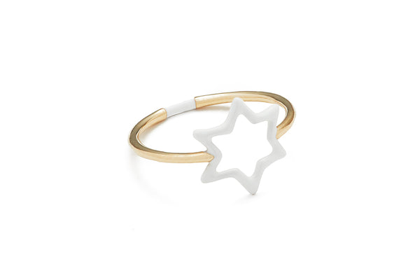 Spirit Star White Ring Enamel