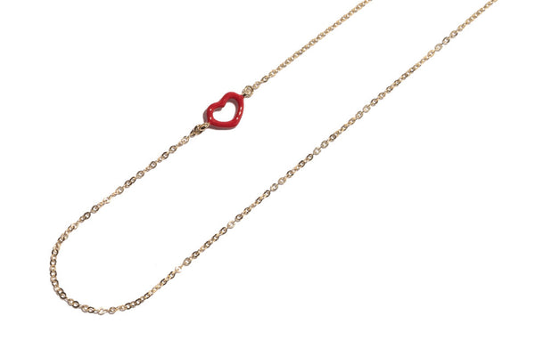 Ruby Red Single Heart Pendant