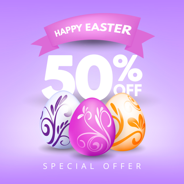 EASTER SALE - Take 50% off storewide!
