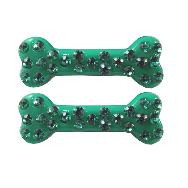 DIA MINI HAIR BONE - GREEN