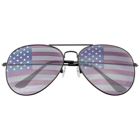 American Flag Sunglasses | Retro 4th of July Party Festival Patriotic American Flag Sunglasses