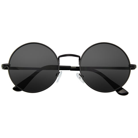 Retro Round Sunglasses | Round Sunglasses Vintage Mirror Lens Round Hippie Sunglasses