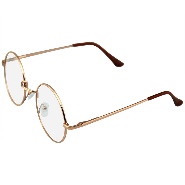 Retro Vintage Classic Metal Clear Lens Round Hippie Glasses