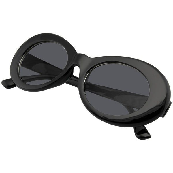 Oval Sunglasses | Emblem Eyewear - Retro Round Oval Clout Round 90's Gradient Lens Sunglasses