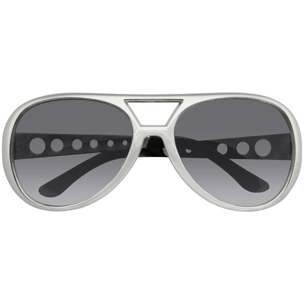 Elvis Sunglasses | Rockstar Sunglasses Costume Party Novelty Sunglasses 60's Rock Star Classic Retro Sunglasses