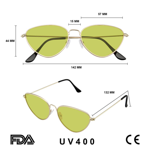 Retro Sunglasses | Sunglasses Retro Vintage Small Triangle Fashion Sun Glasses UV400 Eyewear