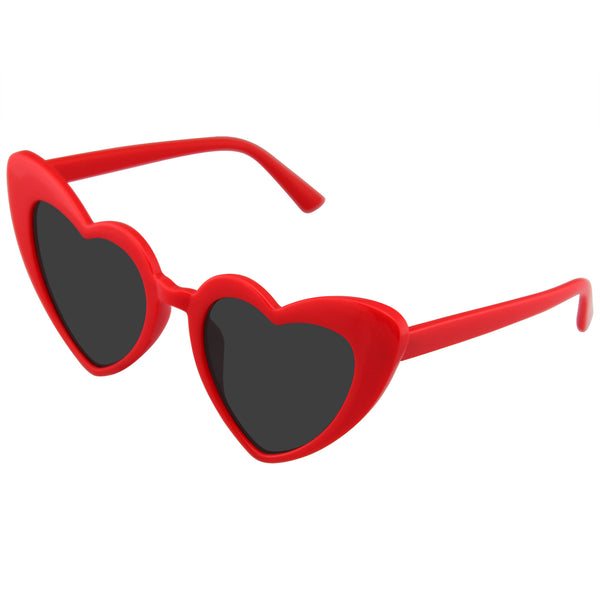 Heart Sunglasses | Cat Eye Women's Fashion Mod Super Cat Heart Shape Cat Eye Sunglasses
