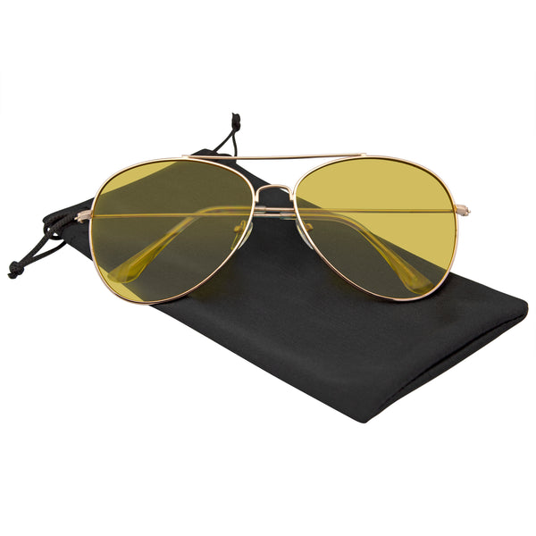 Emblem Eyewear - Sunglasses Mens Womens Color Tinted Lens Color Tone Retro Sunglasses