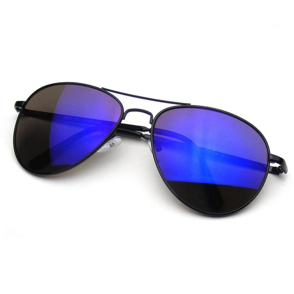 Black Flash Revo Mirrored Lens Premium Metal Frame Aviator Sunglasses Shop Emblem Eyewear!
