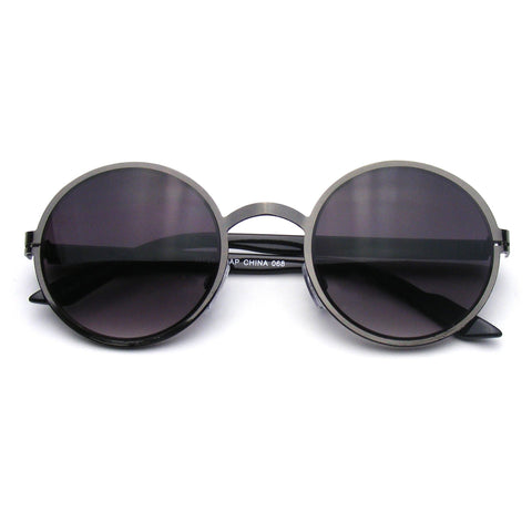 Lennon Inspired Medium Round Circle Metal Sunglasses Shop Emblem Eyewear!