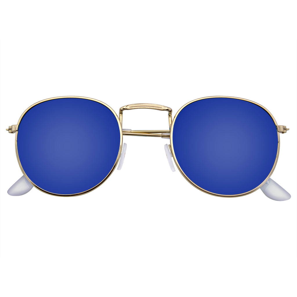 Emblem Eyewear - Fashion Round Sunglasses Men Women's Vintage Retro Mirror Glasses