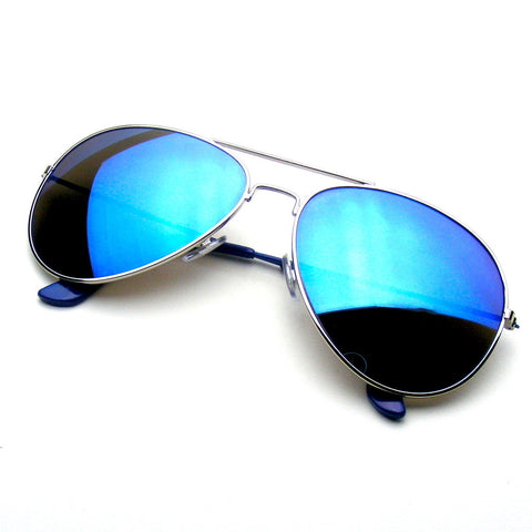 Blue Reflective Revo Flash Full Mirrored Aviator Sunglasses Shop Emblem Eyewear!