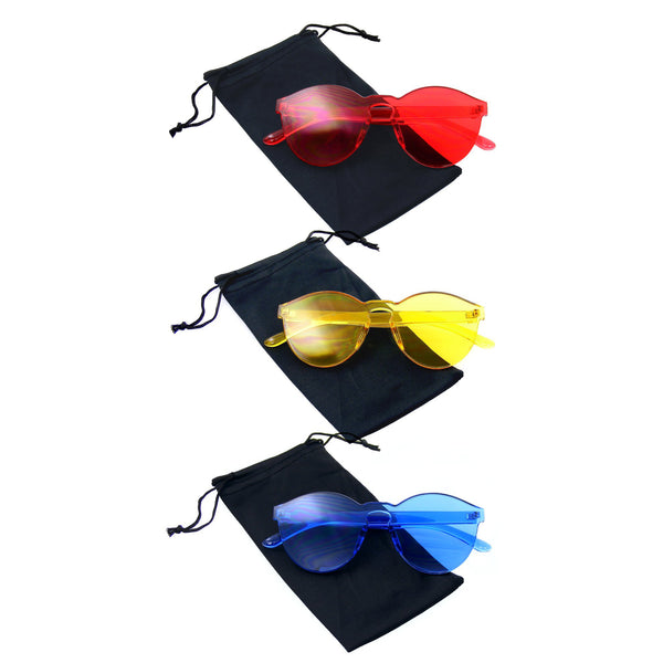Bundle Of Sunglasses In A Bundles 3 Pairs Of Red Mens Womens Sun Glasses EE01