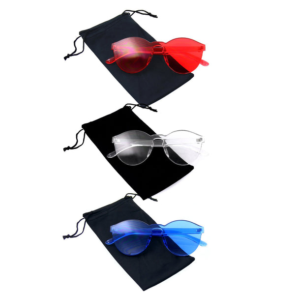 Bundle Of Sunglasses In Bundles 3 Pairs Of Rimless Mens Womens Sun Glasses EE03
