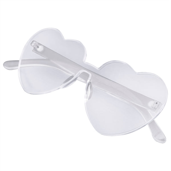 Emblem Eyewear - Heart Shape Heart Sunglasses Retro Vintage Boho Translucent Sunglasses