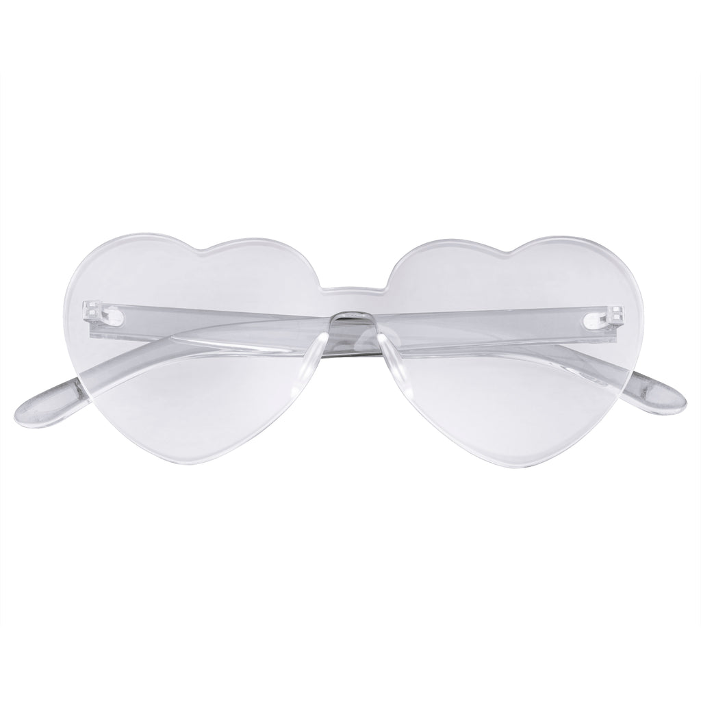 Retro Heart Sunglasses | Emblem Eyewear - Heart Sunglasses Retro Vintage Heart Shape Rimless Sunglasses