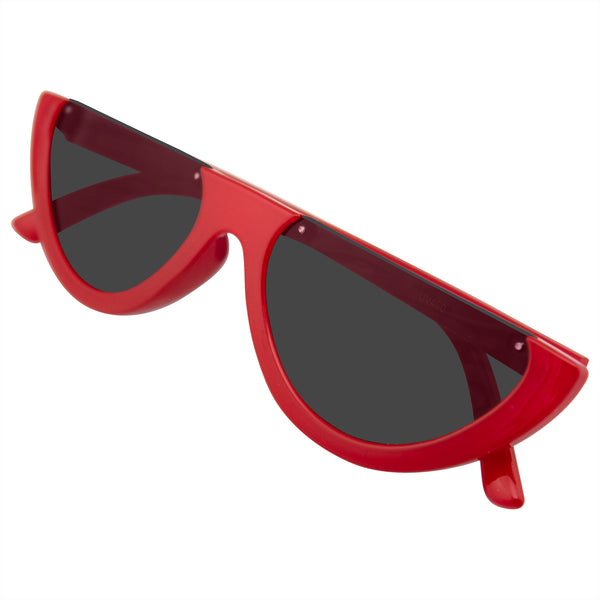 Retro Cat Eye Sunglasses | Emblem Eyewear - Women's Retro Half Frame Flat Cut Lens Sunglasses