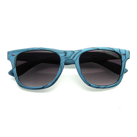 Emblem Eyewear Unique Style Indie Fashion Wood Print Retro Wayfarer Sunglasses