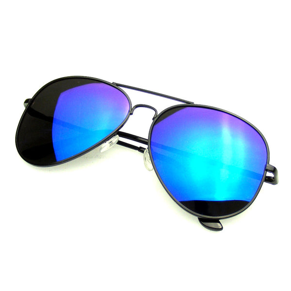 Aviator Sunglasses Polarized | Emblem Eyewear Full Mirror Flash Revo Polarized Aviator Sunglasses