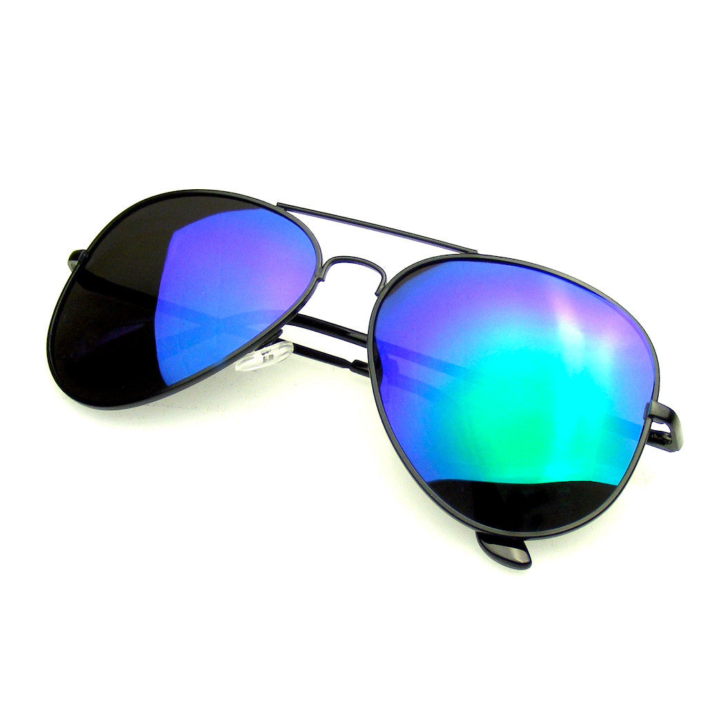 9685944644 ... Emblem Eyewear Full Mirror Flash Revo Polarized Aviator Sunglasses ...