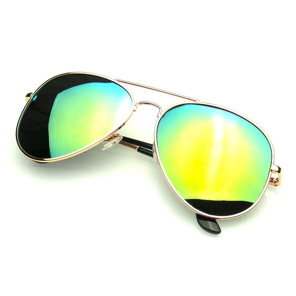 Gold Polarized Aviator Sunglasses Shop Emblem Eyewear!