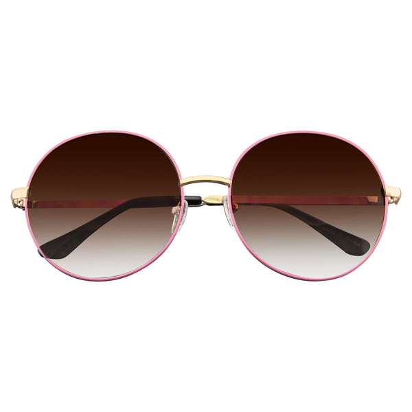Emblem Eyewear - Women's Super Round Oversize Fashion Metal Large Sunglasses