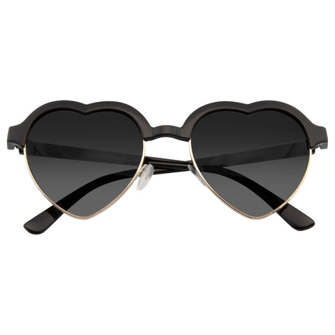 Emblem Eyewear - Cute Vintage Half Frame Inspired Heart Shape Sunglasses