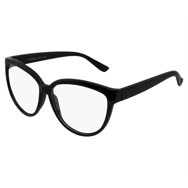 Emblem Eyewear - Womens Oversize Retro Nerd Clear Lens Fashion Cat Eye Geek Glasses