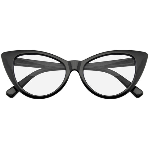 Clear Cat Eye Glasses | Emblem Eyewear - Super Cat Eye Glasses Vintage Inspired Fashion Mod Clear Lens Eyewear