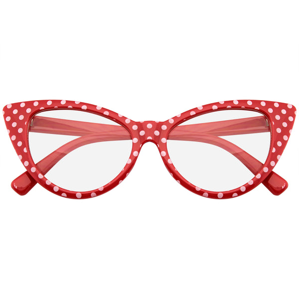 Emblem Eyewear Red Polka Dot Cat Eye Womens Fashion Mod Super Cat Sunglasses.jpg
