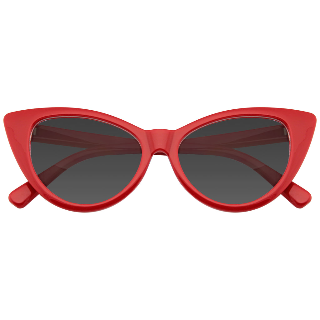 Retro Cat Eye Sunglasses | Emblem Eyewear - Red Womens Fashion Hot Tip Vintage Pointed Cat Eye Sunglasses