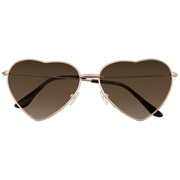 Heart Sunglasses | Metal Frame Heart Shape Sunglasses Cute Lovely Womens
