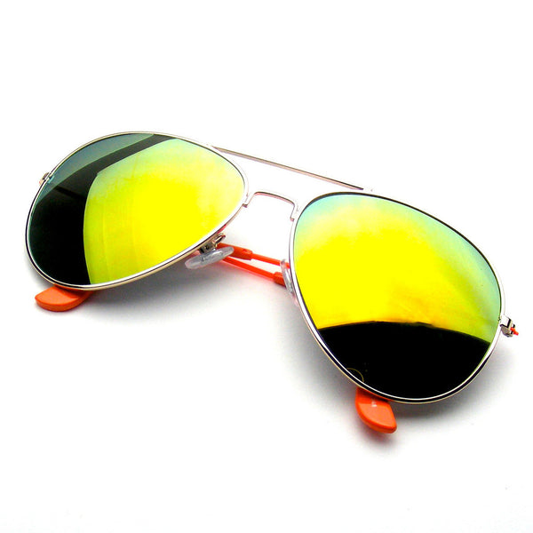 Orange Reflective Revo Flash Full Mirrored Aviator Sunglasses Shop Emblem Eyewear!