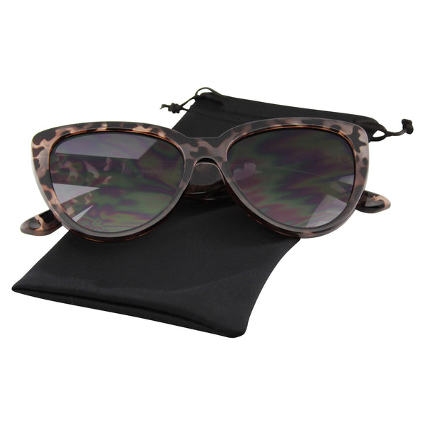 Emblem Eyewear - Sunglasses Womens Flat Front Cat Eye Sunglasses