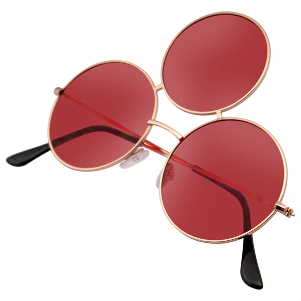 Emblem Eyewear - Third Eye Sunglasses Triple Round Circle Sunglasses