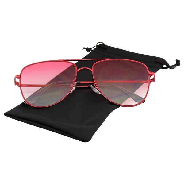 Emblem Eyewear - Sunglasses Mens Womens Retro Flat Lens Color Tone Sunglasses