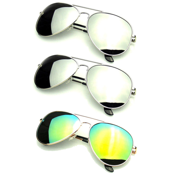 Bundle Of Sunglasses Bundles 3 Pairs Silver Gold Mens Womens Sun Glasses EE06
