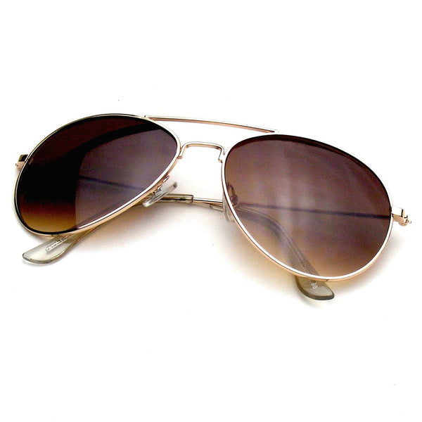 Gold Classic Reflective Revo Mirror Aviator Sunglasses Shop Emblem Eyewear!