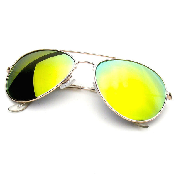 Orange Classic Reflective Revo Mirror Aviator Sunglasses Shop Emblem Eyewear!