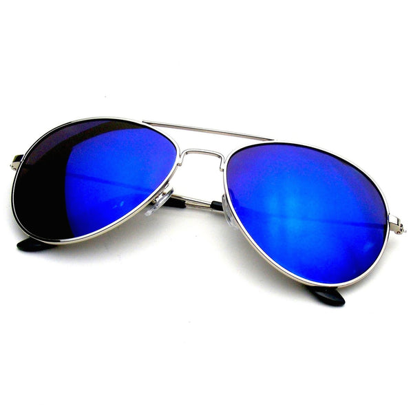 Blue Classic Reflective Revo Mirror Aviator Sunglasses Shop Emblem Eyewear!