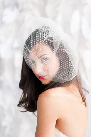Double layer birdcage veil - Multiple sizes - ready to ship - Tessa Kim