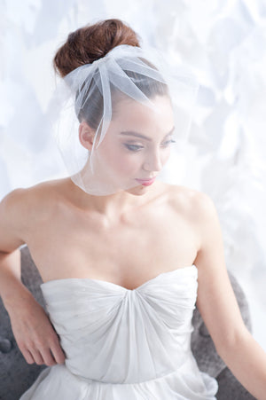 Tulle birdcage veil - ready to ship - Tessa Kim