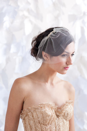 Mini tulle birdcage veil - ready to ship - Tessa Kim