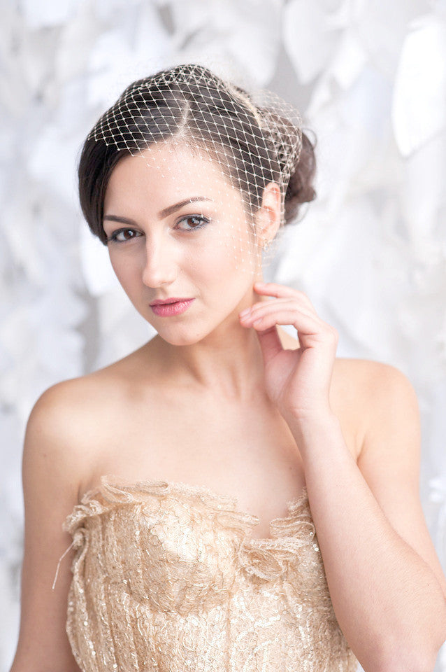 Mini birdcage veil - ready to ship - Tessa Kim