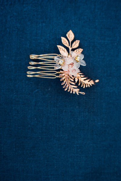 rose gold fascinator