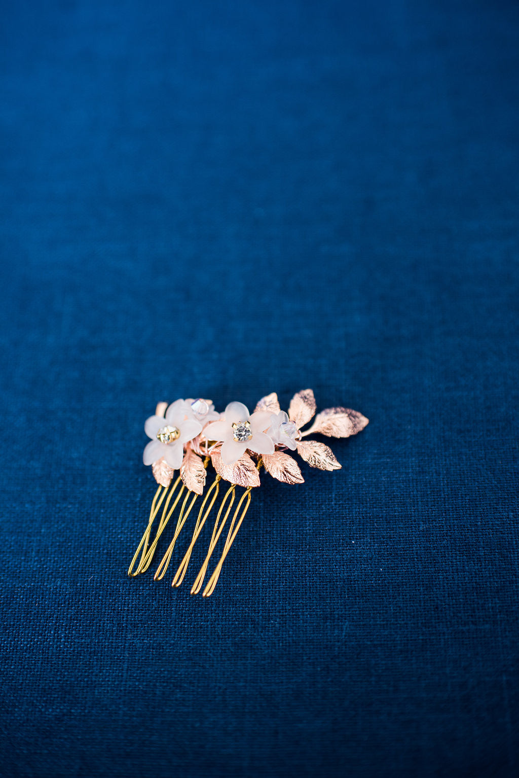 Rose gold hair comb - available in silver, gold, rose gold- Style 3009 - Ready to ship - Tessa Kim
