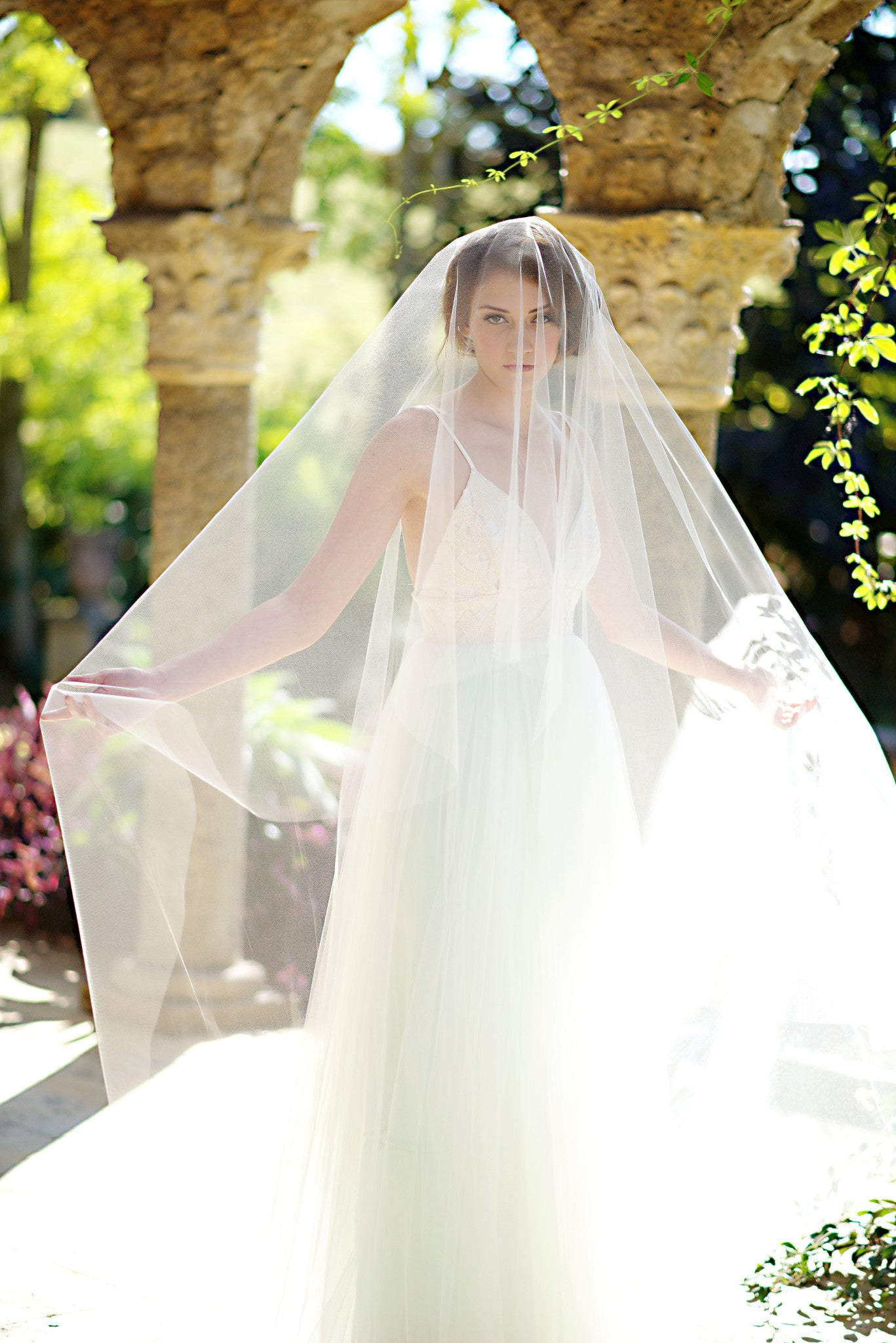 Illusion tulle circle drop bridal veil - Tessa Kim