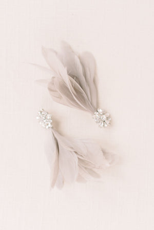 Rhinestone feather pin set - style 5004 - Tessa Kim