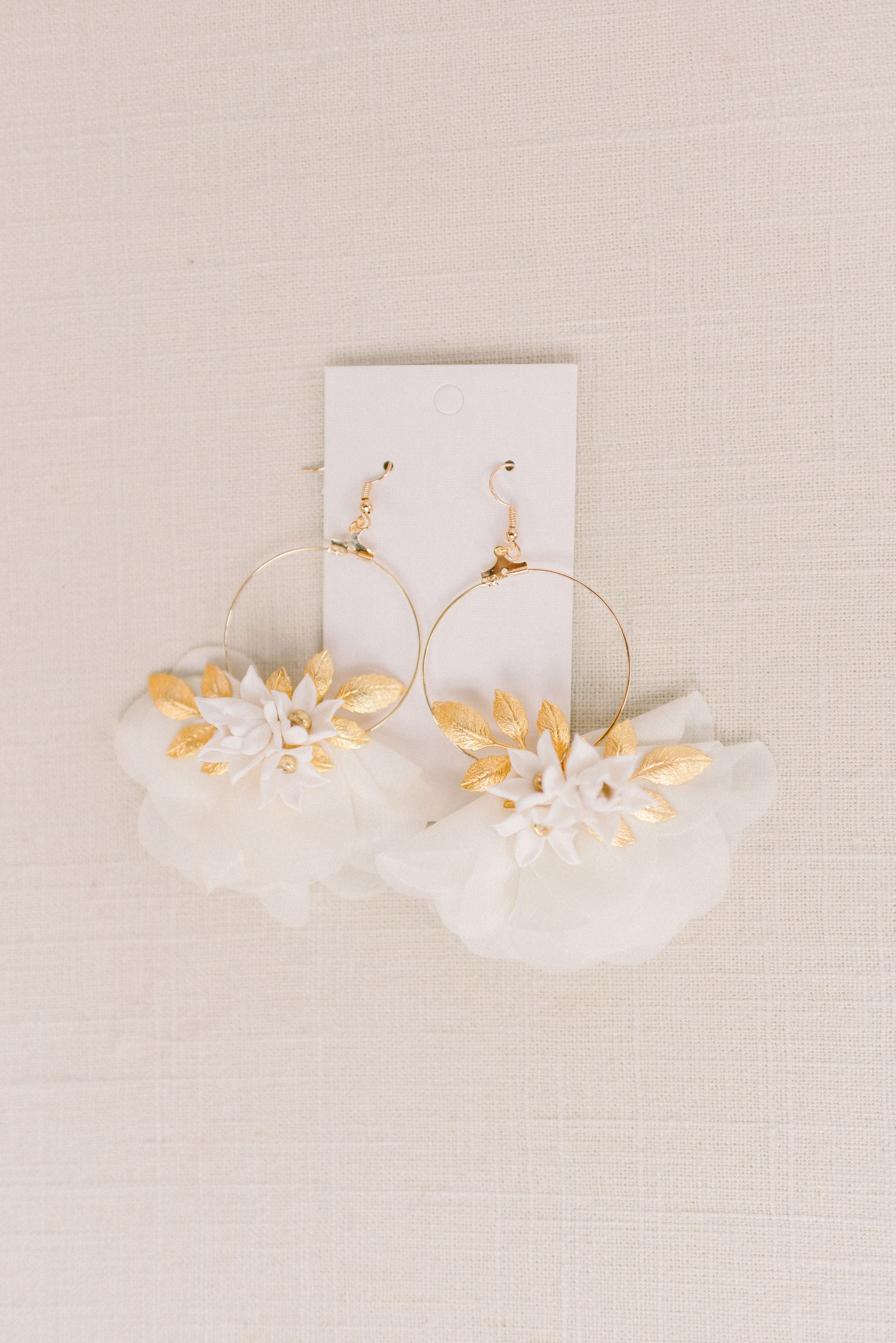 Chiffon floral earrings - Style 6001 - Tessa Kim